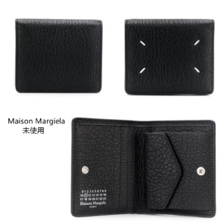 maison margiela レザーポッパー ウォレット二つ折り財布