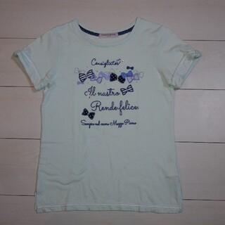 メゾピアノジュニア(mezzo piano junior)のMEZZOPIANO メゾピアノ リボンTシャツ 150cm(Tシャツ/カットソー)