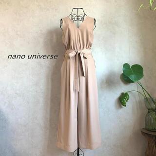 nano・universe - 【新品未使用タグ付き】ナノユニバース ワイドVネックサロペット