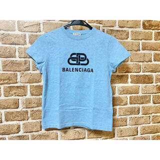 Balenciaga - BALENCIAGA バレンシアガ フロントロゴTシャツ 青 水色 ブルー XS