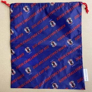 サッカー SAMURAI BLUE 巾着(記念品/関連グッズ)