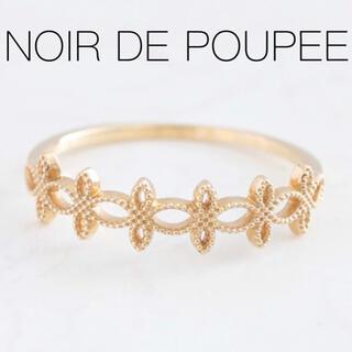 agete - 【NOIR DE POUPEE】K10ゴールドフラワーリング