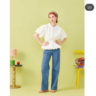 poppy あさぎーにょballon blouse (white)