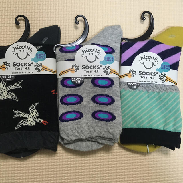 新品 レディース 靴下 3足 セット レディースのレッグウェア(ソックス)の商品写真