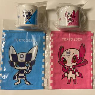 東京2020 オリンピックマスコットパラリンピック コップ 巾着袋 4点セット
