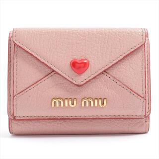miumiu - 【中古美品全国送料無料】miumiu ミュウミュウ 三つ折り財布 マドラスラブ
