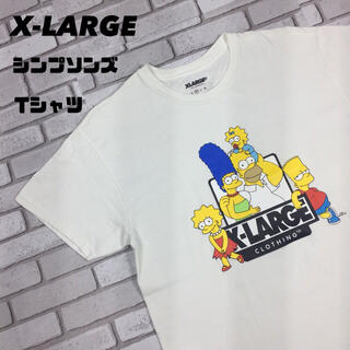エクストララージ(XLARGE)の古着 XLARGE エクストララージ シンプソンズ アニメ コラボ tシャツ(Tシャツ/カットソー(半袖/袖なし))