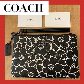 COACH - 新品‼️COACH コーチ 花柄アクセサリーポーチ レディース