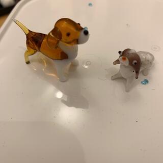 ガラス細工 犬(置物)
