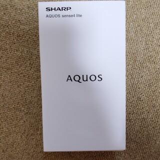 AQUOS - AQUOS sense4 liteブラック 新品未開封