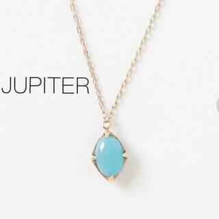 agete - 【JUPITER】K10 sorbet ターコイズ ネックレス