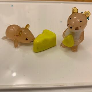 ガラス細工 ネズミ(置物)