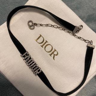 Dior - DIOR dior チョーカー メタル・ベルベットリボン・クリスタル