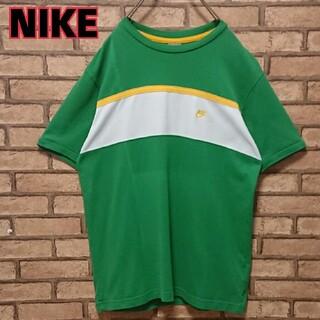 ナイキ(NIKE)のNIKE ナイキ ワンポイント 刺繍 ロゴ アースカラー メンズ 半袖 Tシャツ(ポロシャツ)