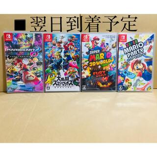 ニンテンドースイッチ(Nintendo Switch)の4台●マリオカート8●スマッシュブラザーズ ●マリオ3Dワールド●マリオパーティ(家庭用ゲームソフト)