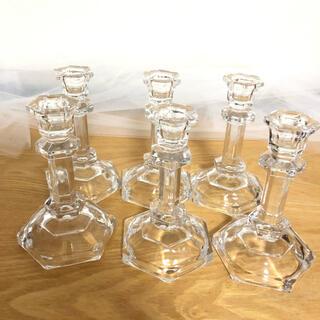 キャンドルホルダー ウェディング キャンドルスティック ガラス