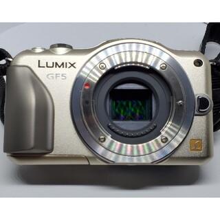 Panasonic - 超美品  ショット数1074回 ミラーレス一眼 LUMIX GF5 ゴールド