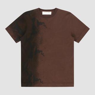 ディオール(Dior)の新品未使用!1017ALYX9SM 2021ss ブラウンパイソン柄Tシャツ M(Tシャツ/カットソー(半袖/袖なし))