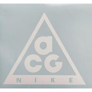 ① NIKE ACG ステッカー ◆横13㎝×縦11㎝◆白◆グロス◆マット◆