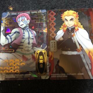 BANDAI - 鬼滅の刃  ステンドグラスカード  煉獄杏寿郎&猗窩座