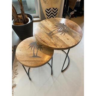 ダブルティー(WTW)のWTW サイドテーブル 大小セット(コーヒーテーブル/サイドテーブル)