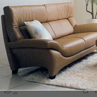 カリモクカグ(カリモク家具)の引き取りのみ  カリモク 本革 ソファ 3人掛け ZU3903X328 (三人掛けソファ)