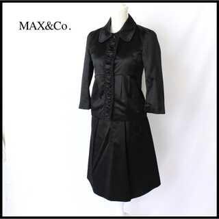 マックスアンドコー(Max & Co.)のマックス&コー★フォーマルスーツ セレモニー サテン調 J38(M) 艶黒  (スーツ)