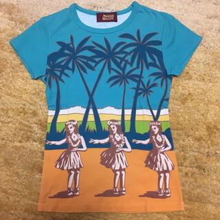 mash mania - フラダンス柄 半袖Tシャツ マッシュマニア