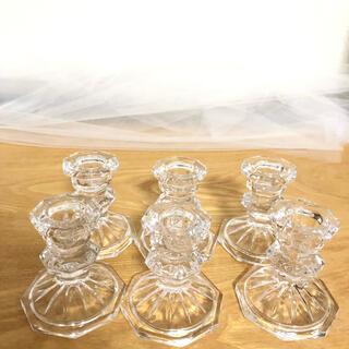 キャンドルホルダー ガラス キャンドルスティック カメヤマ ウェルカムスペース
