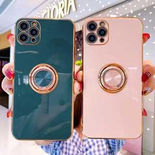 定番!ゴールドリング付き ? iPhone アイフォン ケース 全7色