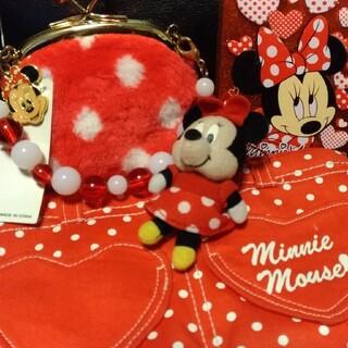 ミニーマウス(ミニーマウス)のミニーマウスの3点セットポーチ×2、手鏡(キャラクターグッズ)
