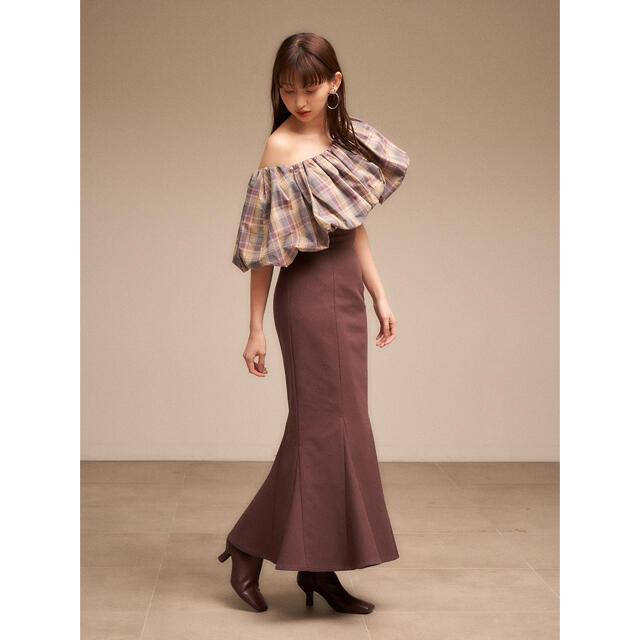 snidel(スナイデル)のsnidel ハイウエストヘムタイトフレアスカート🧡 レディースのスカート(ロングスカート)の商品写真