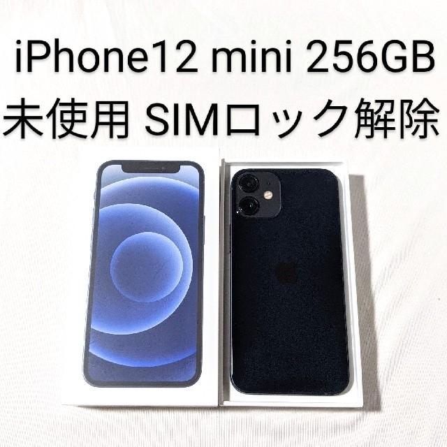 iPhone(アイフォーン)の未使用 iPhone12mini  256GB 本体 SIMフリー ブラック  スマホ/家電/カメラのスマートフォン/携帯電話(スマートフォン本体)の商品写真