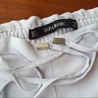 ZARA - ZARA パンツ テーパード 薄い水色