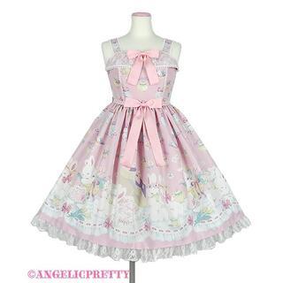 Angelic Pretty - 新品・未使用うさぎのPicnic Partyジャンパースカート ピンク