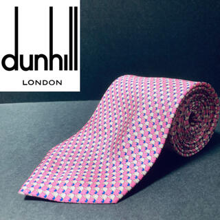 Dunhill - 【美品】dunhill/ダンヒル ネクタイ ピンク 総柄