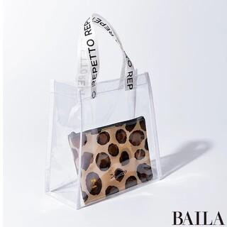 repetto - BAILA付録❤️repetto  PVCトート&レオパードポーチ👝