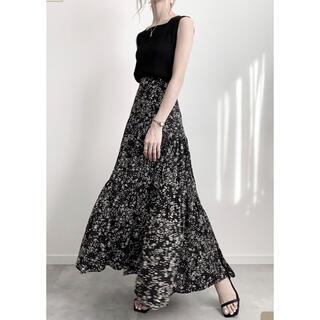 2020年購入 amel フラワープリントティアードスカート 完売品