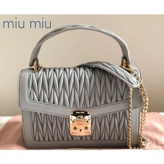 ミュウミュウ(miumiu)の新品 miu miu マテラッセ 2way ショルダーバッグ コンフィデンシャル(ハンドバッグ)