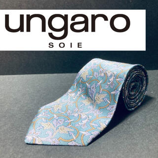 ユーバイウンガロ(U by ungaro)の【美品】 ungaro/ウンガロ ネクタイ ブルー(ネクタイ)