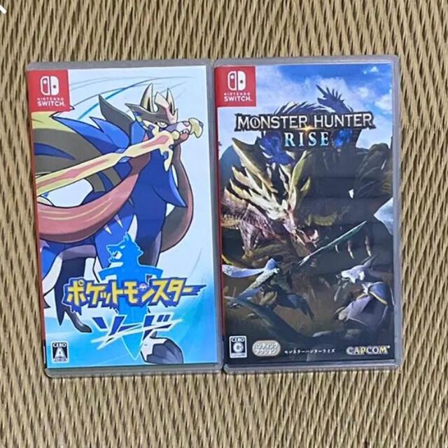 任天堂(ニンテンドウ)のモンハンライズ & ポケモンソード 剣 セット エンタメ/ホビーのゲームソフト/ゲーム機本体(家庭用ゲームソフト)の商品写真