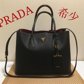 PRADA - プラダダブルバッグ ブラック/レッド 1BG756