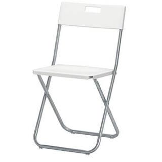 イケア(IKEA)のイケア 折りたたみチェア ホワイト GUNDE(折り畳みイス)