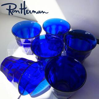 Ron Herman - 新品 ロンハーマン デュラレックス 6個 限定 青 サファイア グラス