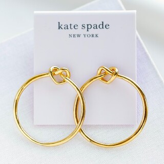 kate spade new york - 【新品♠本物】ケイトスペード ラブミーノットフープピアス