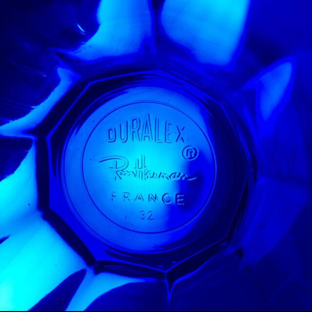 Ron Herman(ロンハーマン)の新品 ロンハーマン デュラレックス 3個 限定 青 サファイア グラス インテリア/住まい/日用品のキッチン/食器(グラス/カップ)の商品写真