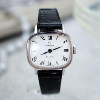オメガ(OMEGA)の美品*OMEGA deville ローマン クロコダイルベルト*トゥモローランド(腕時計)