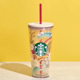Starbucks Coffee - 【新品】香港スターバックス サマージョイ コールドカップ 20oz