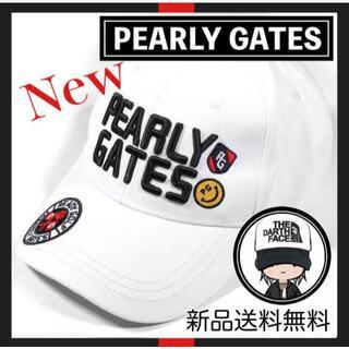 パーリーゲイツ(PEARLY GATES)の【新品】大人気!! PEARLY GATES ホワイト キャップ 帽子(キャップ)