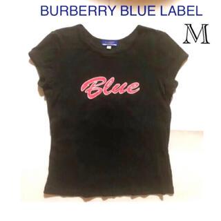 BURBERRY BLUE LABEL - バーバリーブルーレーベル 半袖 トップス 黒色 M